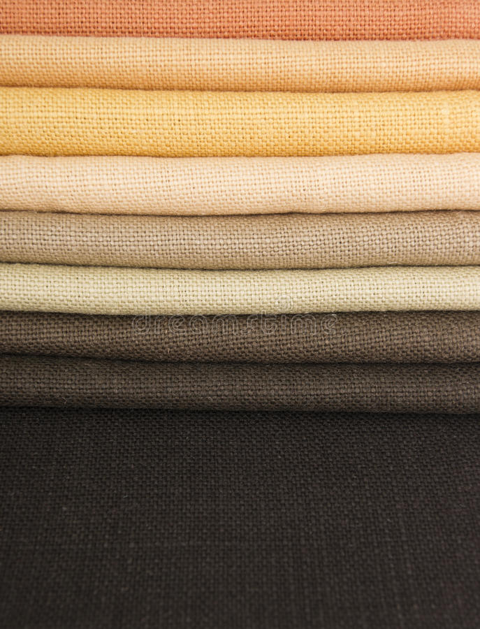 Earth Colors Fabrics Stock Photography
