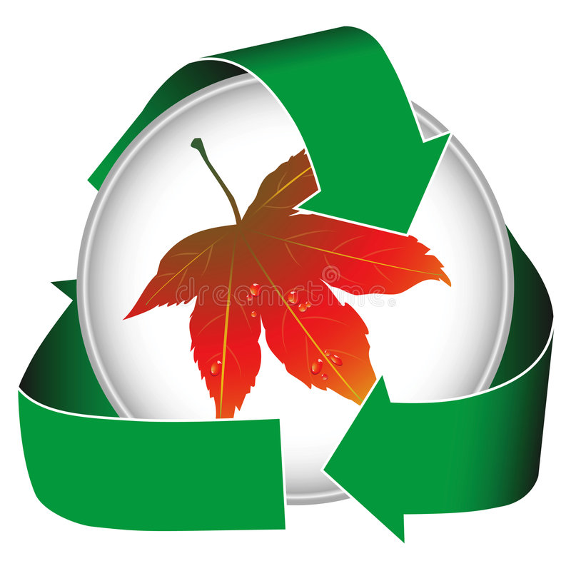 Earth Conservation W Maple Leaf Stock Image