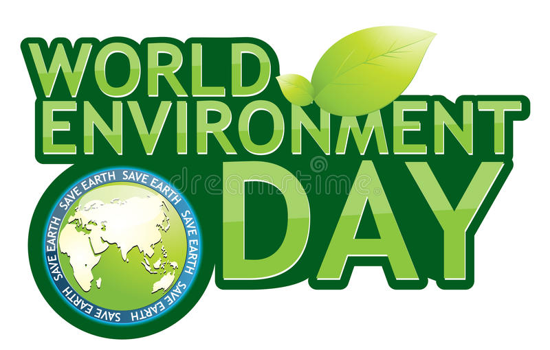 Earth day. Grounded on a white background seedlings vector illustration