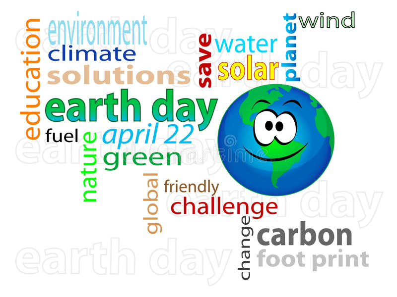 Earth day 2 royalty free illustration
