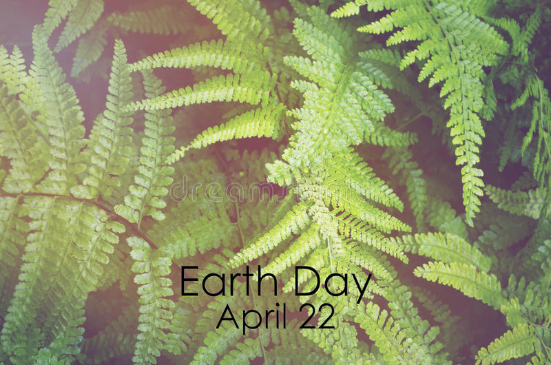 Earth Day, April 22, Concept Image stock image