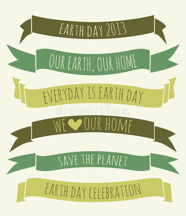 Earth Day Banners Collection vector illustration