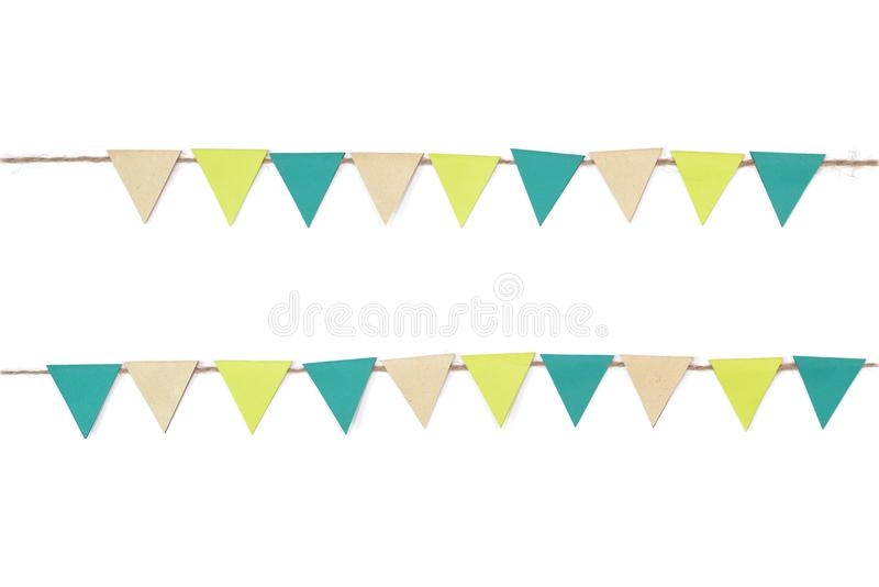 Earth day bunting paper cut on white background stock image