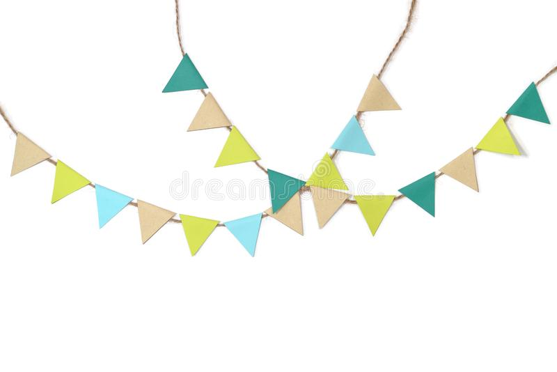 Earth day bunting paper cut on white background vector illustration