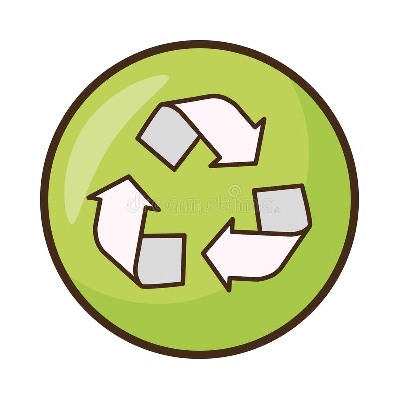 Earth day card. Recycle emblem earth day card vector illustration stock illustration