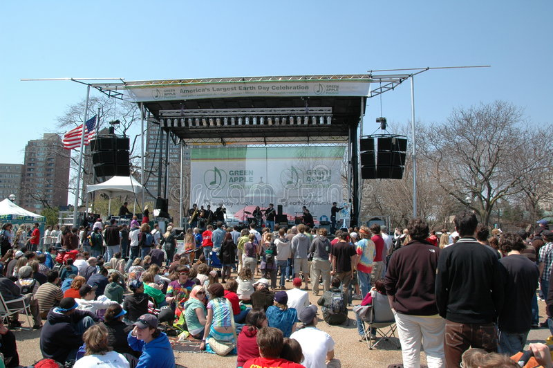 Earth Day Celebration. At Lincoln Park Zoo stock image
