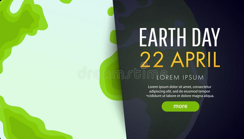 Earth Day. Save the Earth concept vector illustration