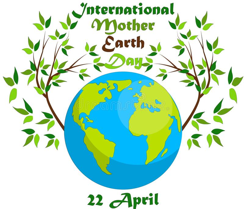Earth Day. Eco friendly ecology concept. World environment day background. Earth Day. Eco friendly ecology concept. Earth day flat concept. World environment day royalty free illustration