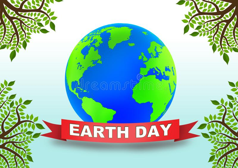 Earth Day globe royalty free illustration