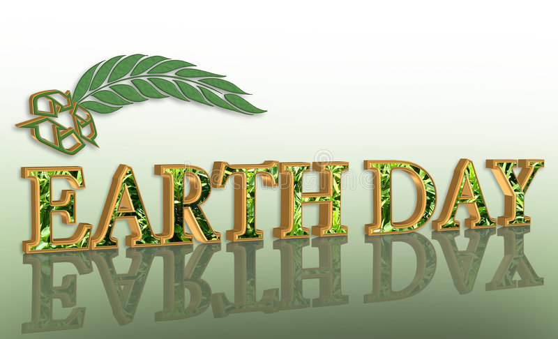 Earth day graphic 3D recycle stock photo
