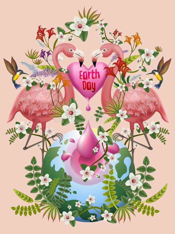 Earth day illustration royalty free illustration
