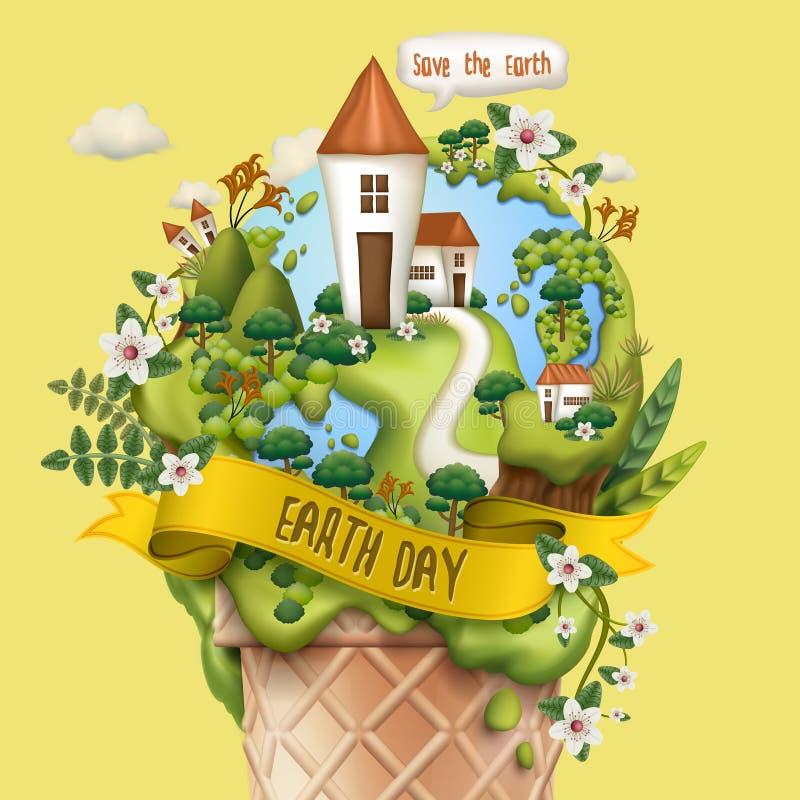 Earth day illustration stock illustration