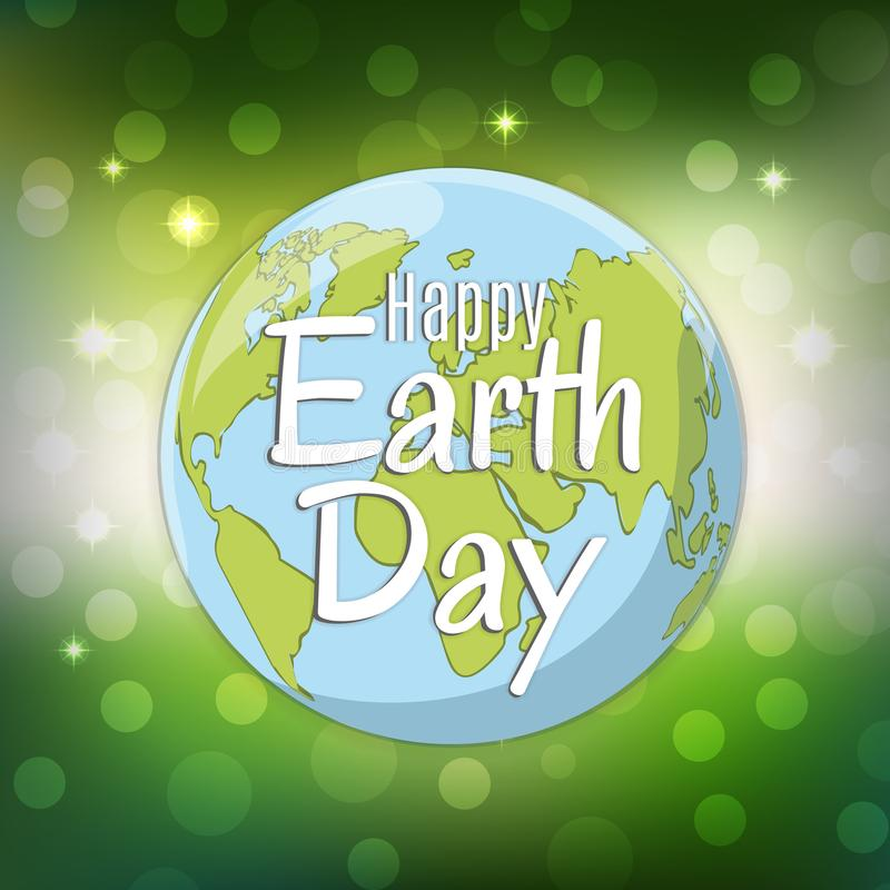 Earth day logo design. World environment day. Ecology concept. Vector Illustration. royalty free illustration
