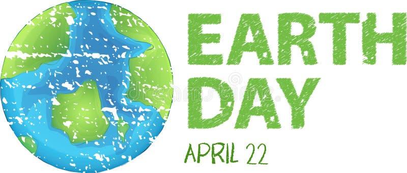 An earth day logo. Illustration royalty free illustration