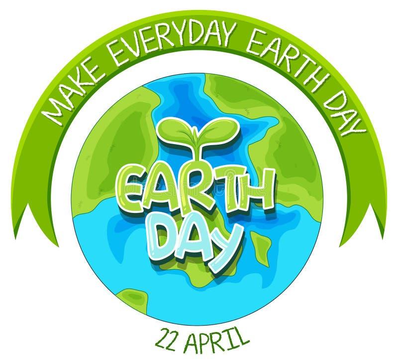 An earth day logo. Illustration stock illustration
