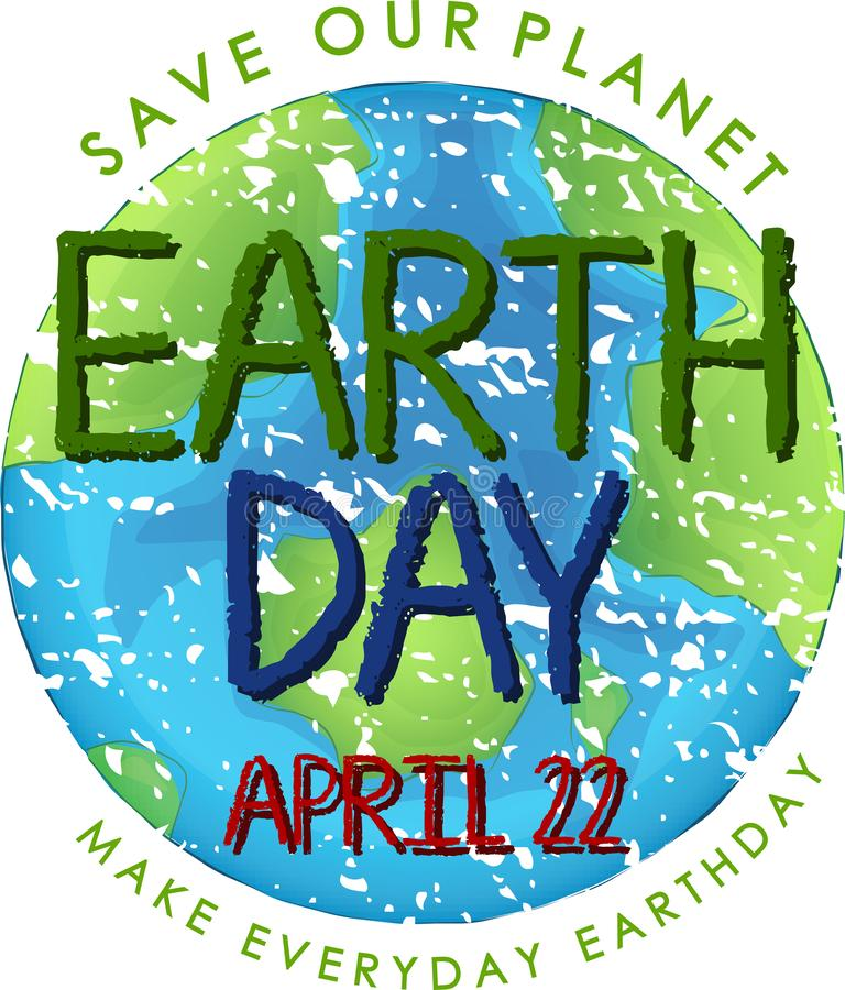 An earth day logo. Illustration vector illustration