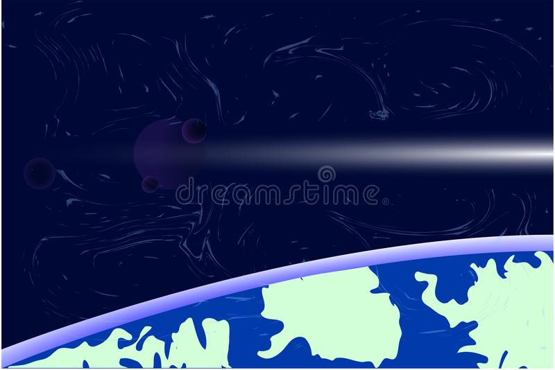 Earth Day . Orb of space. vector vector illustration