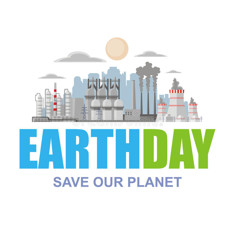 earth day poster royalty free illustration