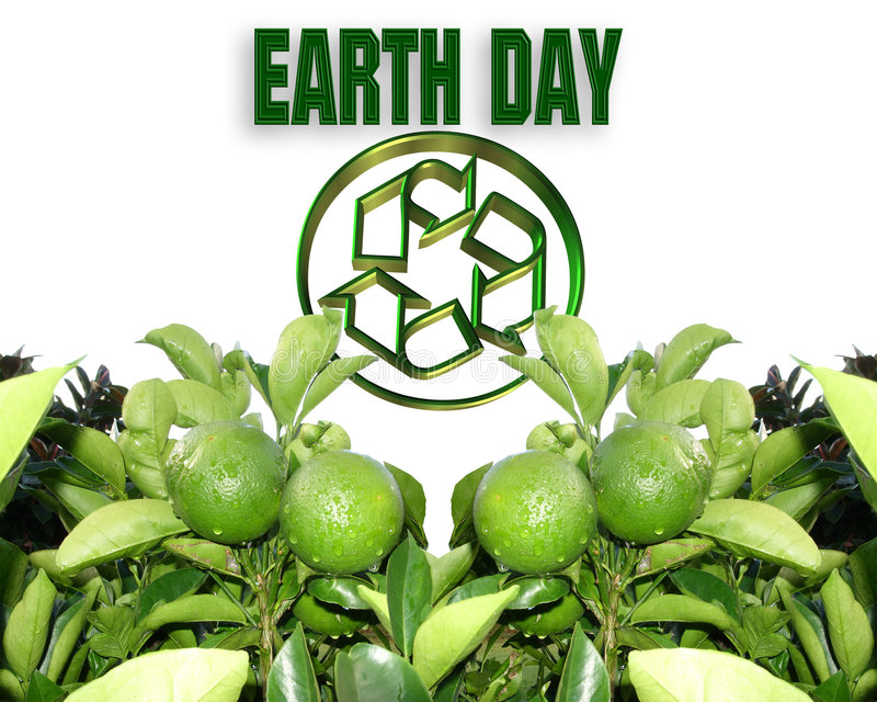 Earth Day Recycle. Image and illustration composition for Earth Day background royalty free illustration