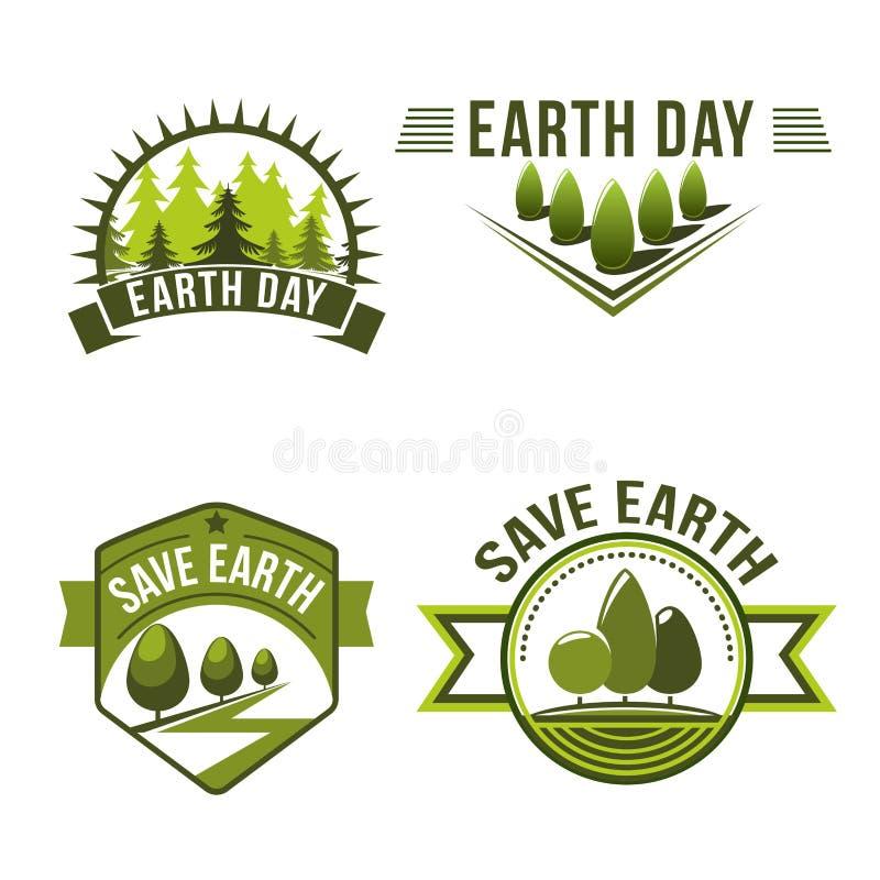 Earth Day Symbols Logos Environment Infographic Stock Vector