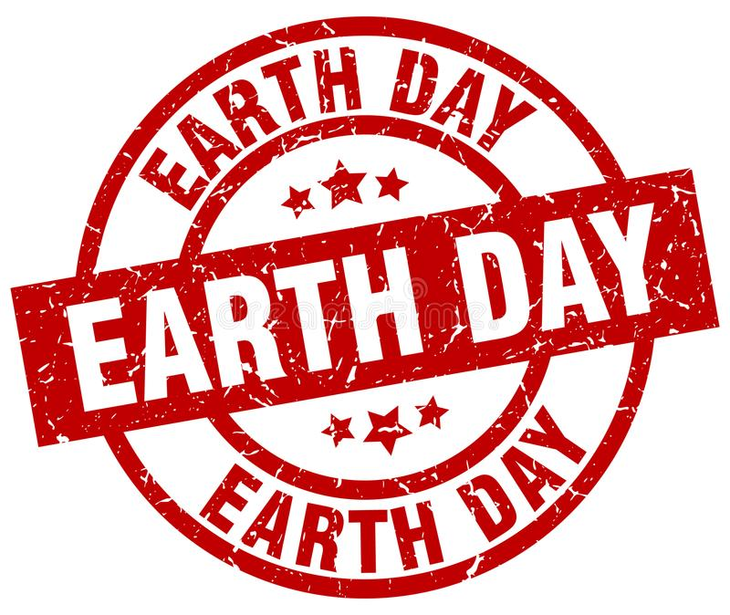 earth day stamp stock illustration