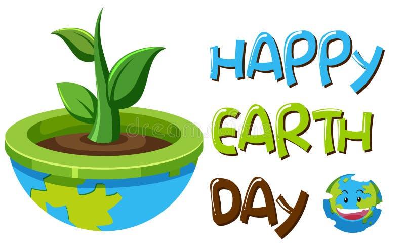 An earth day symbol. Illustration vector illustration