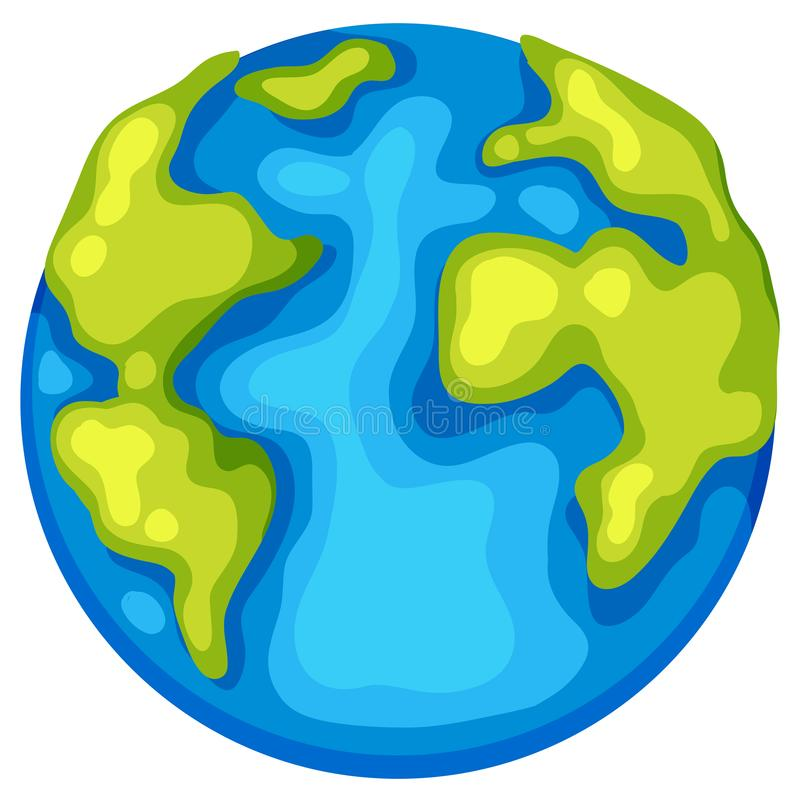 An earth day template. Illustration stock illustration