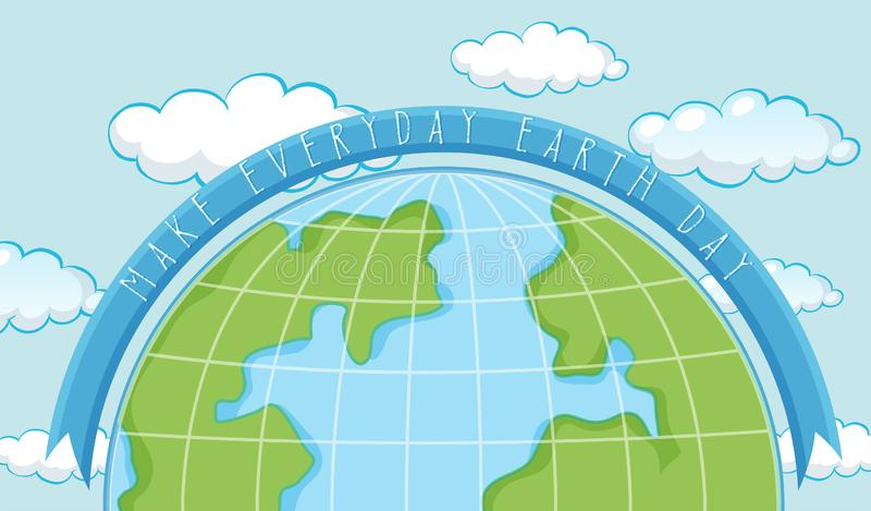 An earth day template. Illustration royalty free illustration
