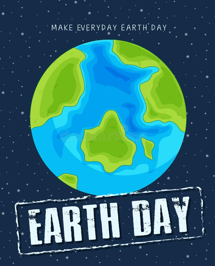 An earth day template. Illustration vector illustration