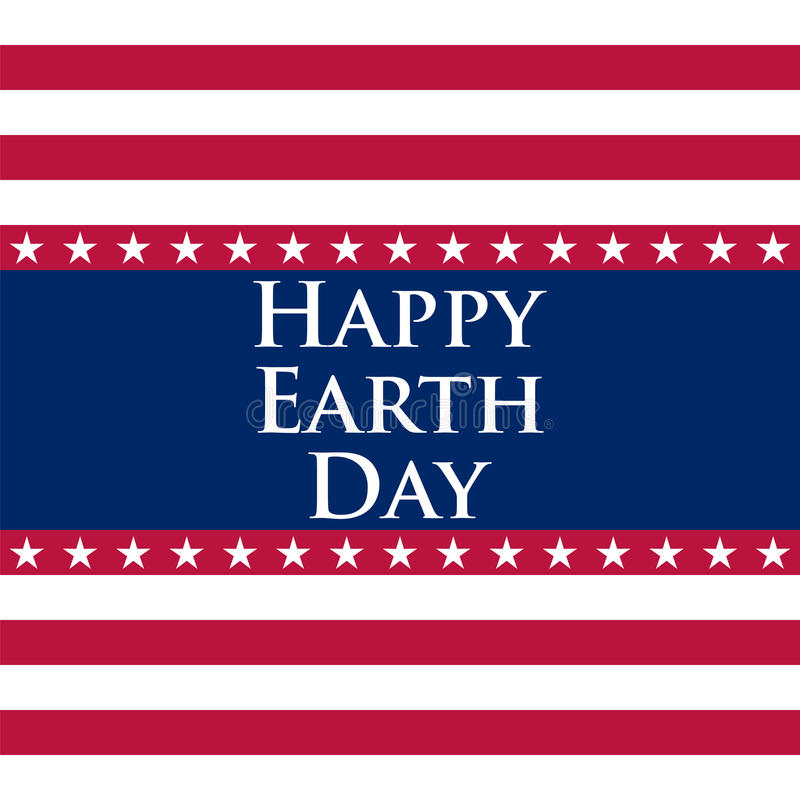 Earth Day in the United States. Vector illustration royalty free illustration
