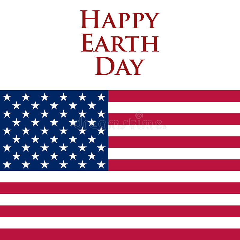 Earth Day in the United States. Vector illustration stock illustration