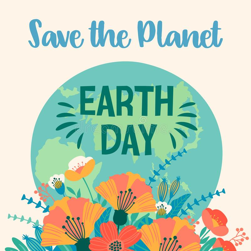 Earth Day. Vector Template For Card, Poster, Banner, Flyer