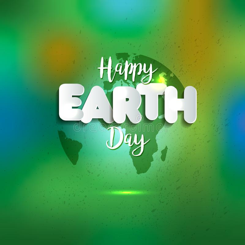 Earth day earth world map globe sign lettering in paper style earth world map globe sign lettering in paper style greeting gumiabroncs Gallery