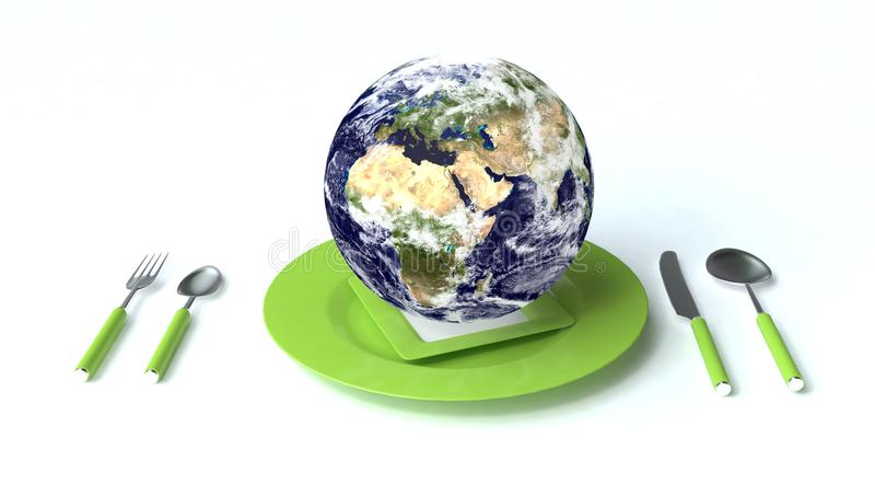 Download Earth for dinner stock illustration. Illustration of spoon - 10083467