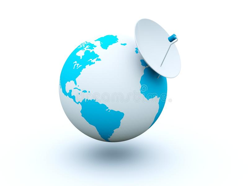 Download Earth with dish stock illustration. Image of continents - 12690452