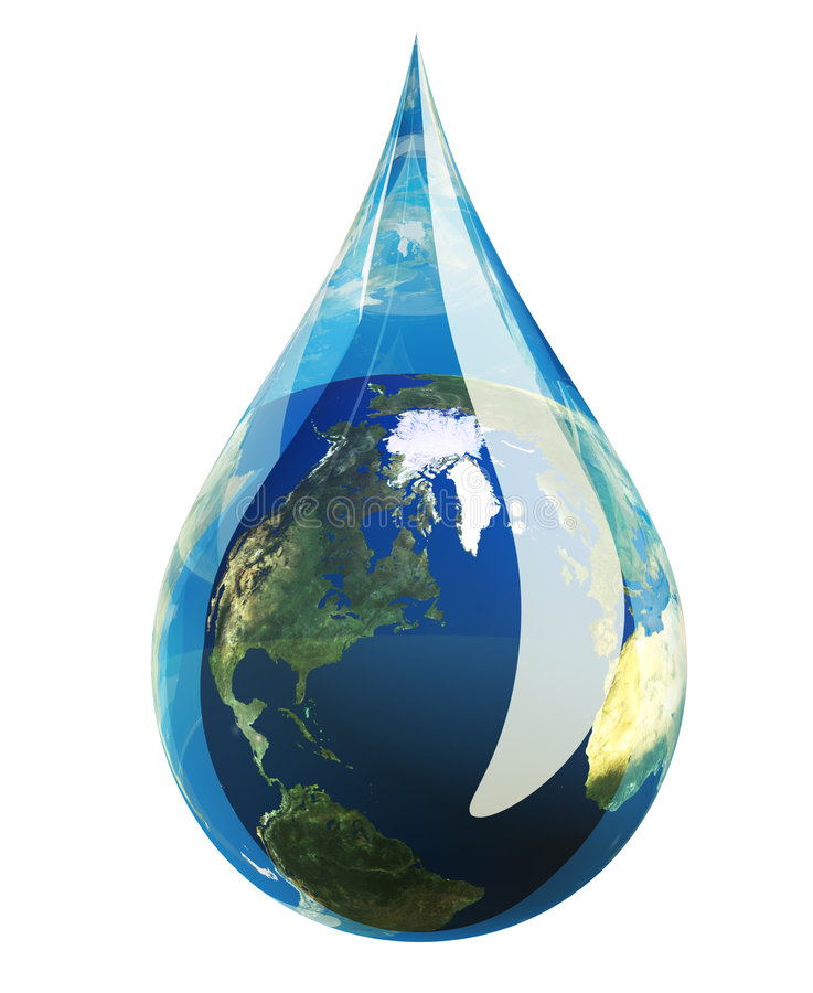 Earth Droplet Royalty Free Stock Images