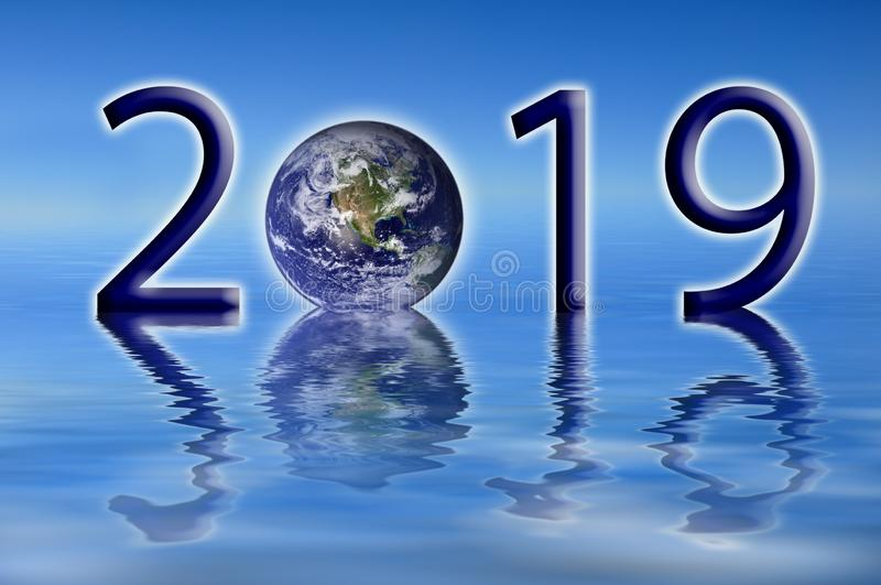 2019 earth environment concept. 2019 new year, earth environment concept stock images