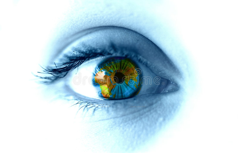 Earth eye royalty free stock photography