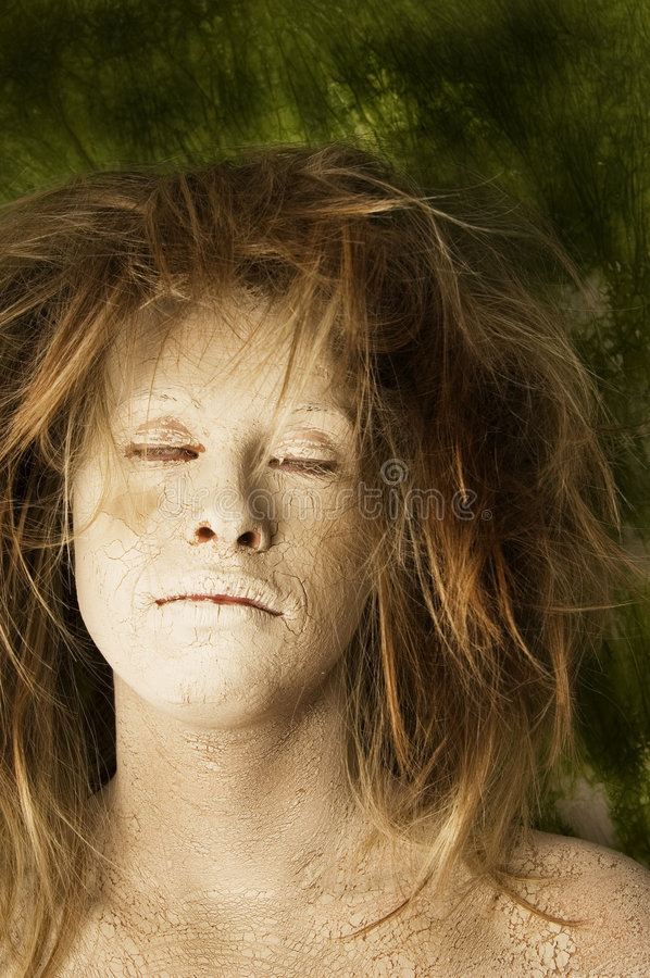 Earth face stock images