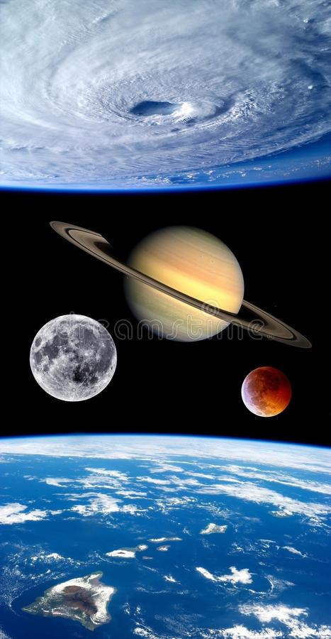 Earth Fantasy Planets Universe royalty free stock photos