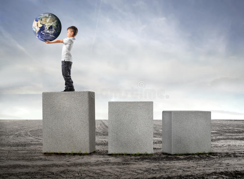 Earth at first place stock image
