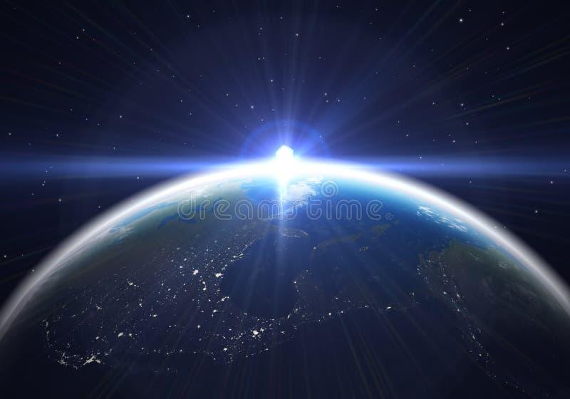Download Earth flare stock illustration. Illustration of world - 34367591