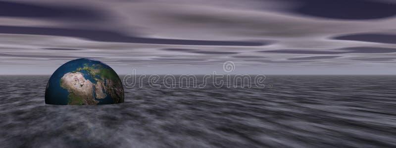 Earth in fog vector illustration
