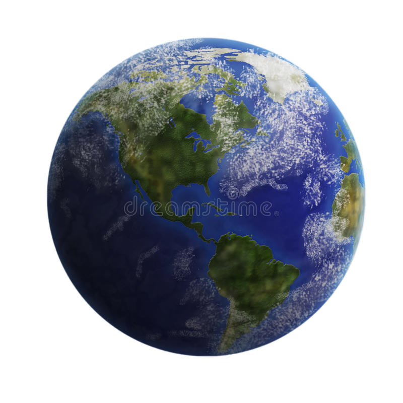 Free Earth From Space Isolated On White Background. Royalty Free Stock Image - 35854166