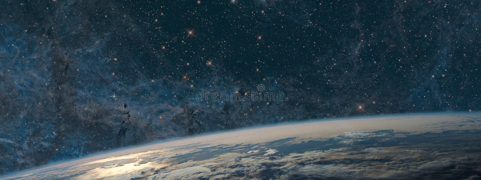 Download Earth And Galaxy. Night Sky Space Stock Photo - Image of light, alien: 98612938