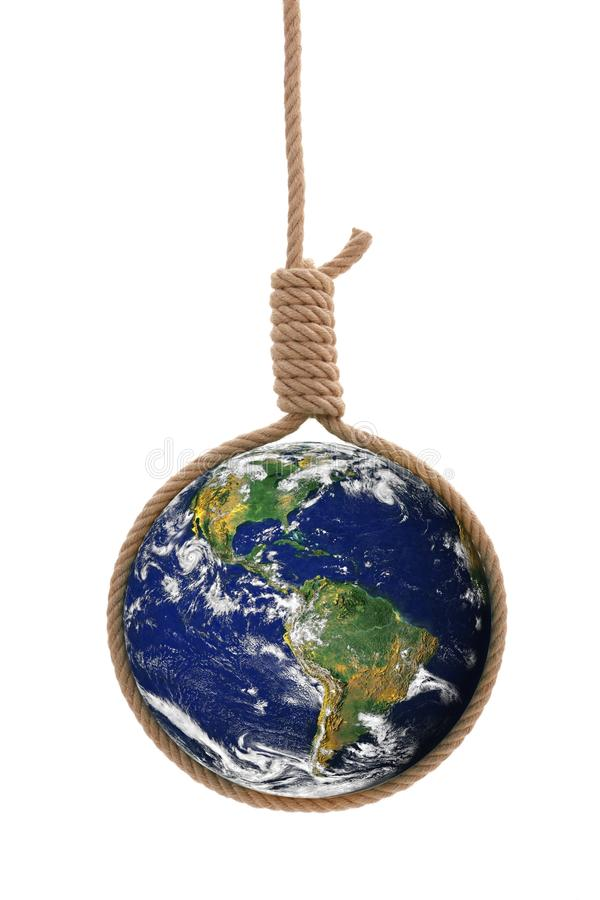 Download Earth in gallows rope stock photo. Image of sphere, gallows - 23359008