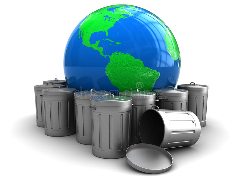Download Earth and garbage stock illustration. Illustration of globe - 13317144