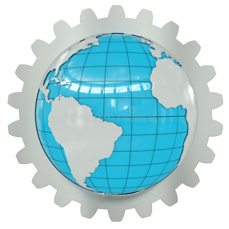 Download Earth of the gear wheel stock illustration. Image of joining - 20740173