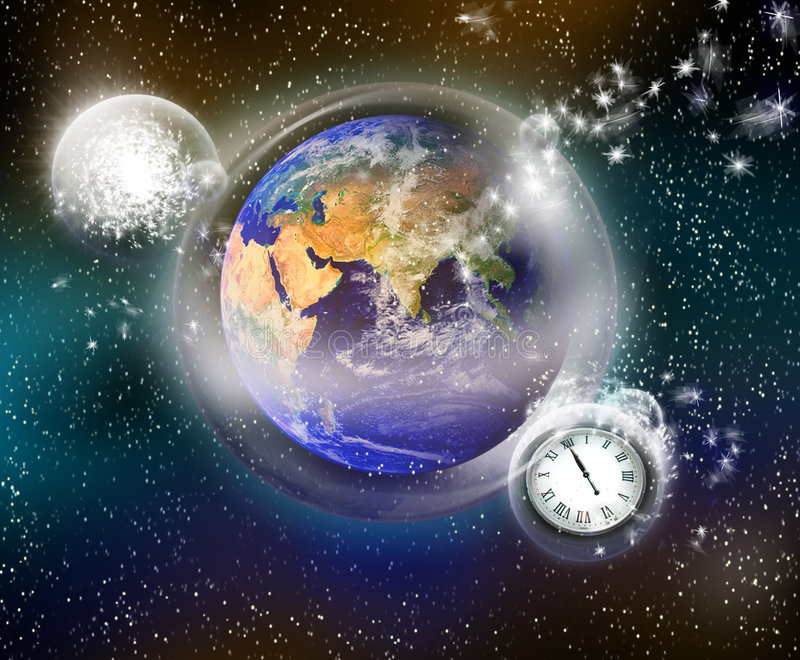 Earth global protection royalty free stock image