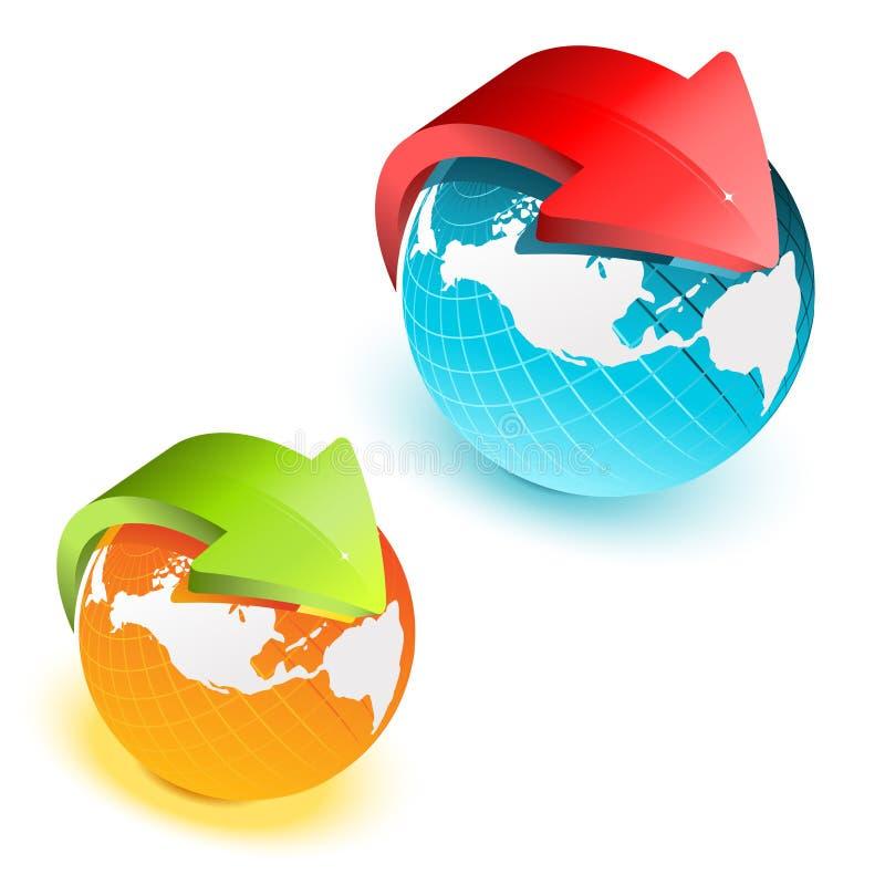Earth globe royalty free illustration